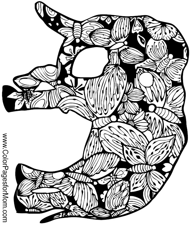 Animals 103 advanced coloring page for Advanced animal coloring pages