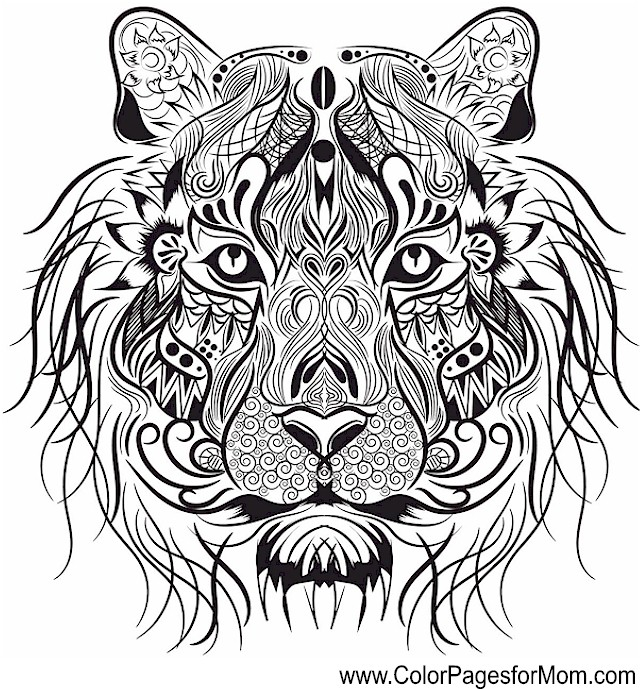 Animals 107 Advanced Coloring Pages