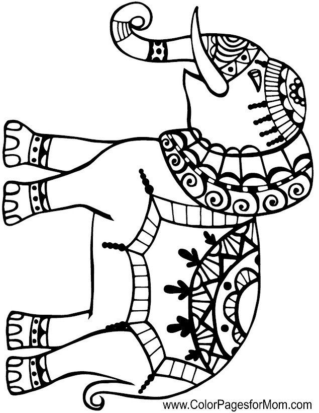 mosaic elephant coloring pages coloring pages. Black Bedroom Furniture Sets. Home Design Ideas