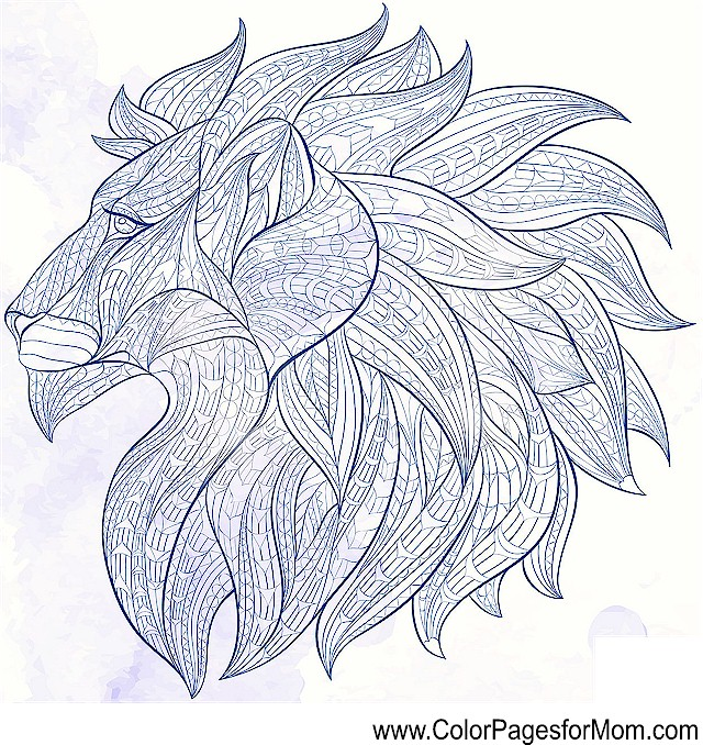 Advanced Coloring Pages Of Animals : Free coloring pages of animals stained glass