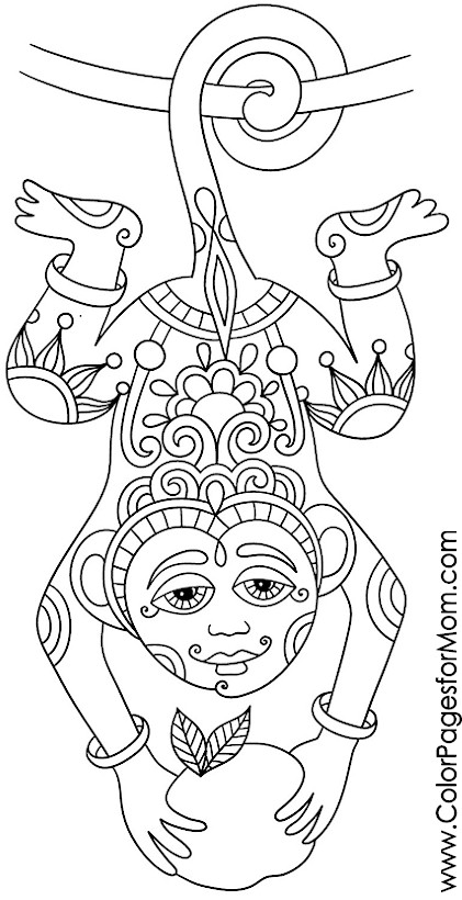 Animal Coloring Pages Esl Animals Advanced Page