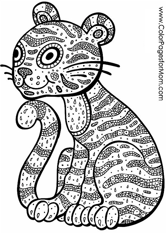 Animals 3 Advanced Coloring Page