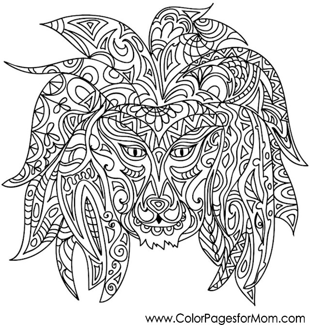 Animals 36 advanced coloring page for Advanced animal coloring pages