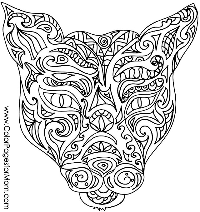 Animals 41 advanced coloring page for Advanced animal coloring pages