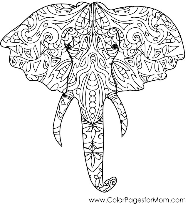 Animals 50 advanced coloring page for Advanced animal coloring pages