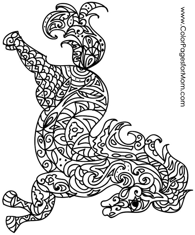 Advanced animal coloring pages coloring pages for Advanced animal coloring pages