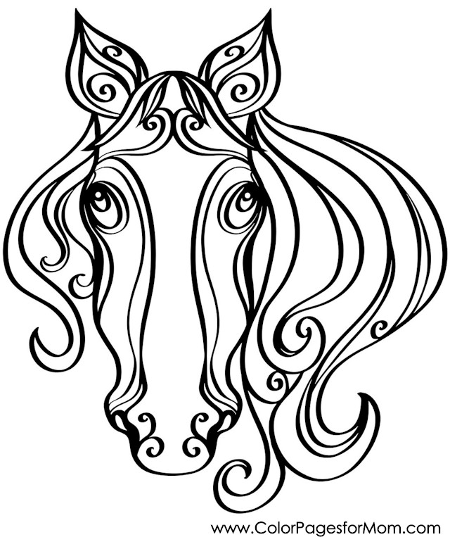 Advanced Coloring Pages Of Horses : Advanced horse pages coloring