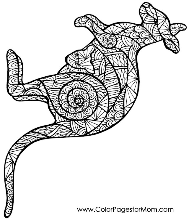 Animals 64 advanced coloring page for Advanced animal coloring pages