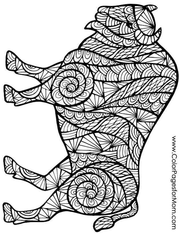 Animals 67 advanced coloring page for Advanced animal coloring pages