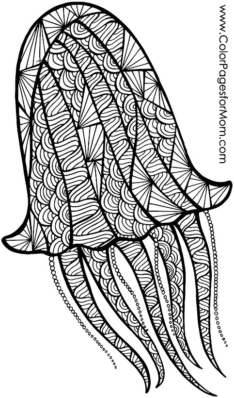 Animals 69 advanced coloring page for Advanced animal coloring pages