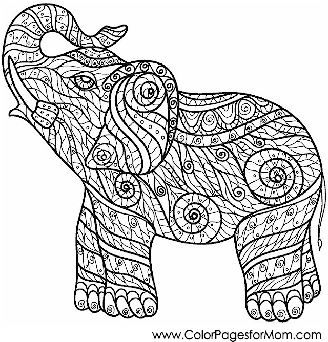 Animals 9 advanced coloring page for Advanced animal coloring pages