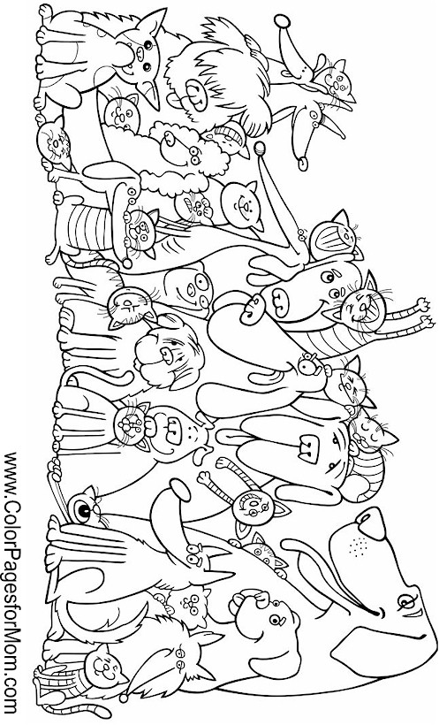 Advanced Coloring Pages Of Animals : Free coloring pages of animal bookmarks