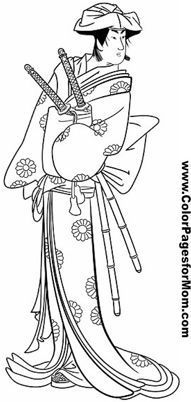 Asian Coloring Page 19