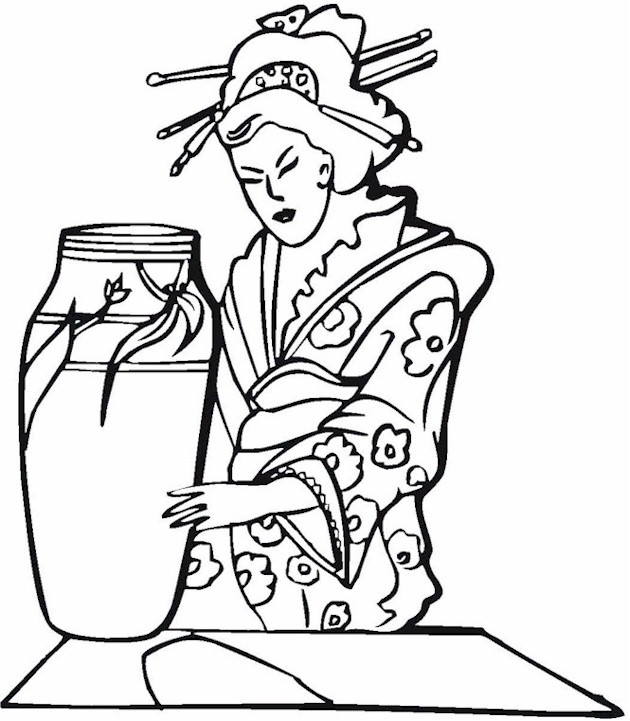 free asian coloring pages - photo#14