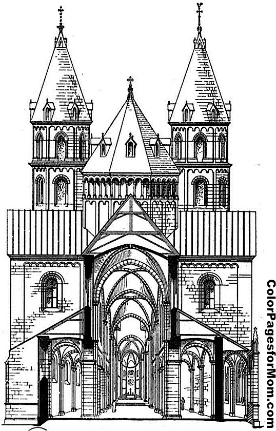Church Coloring Page 3