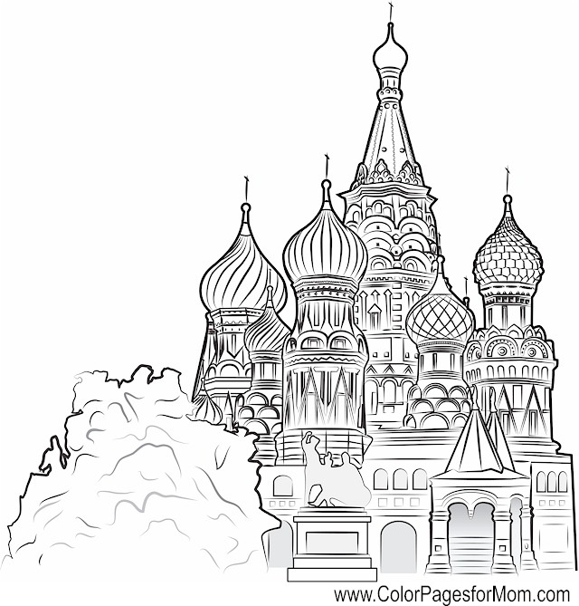 Church Coloring Page 9