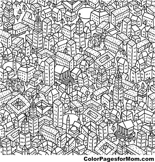 City Coloring Page 16