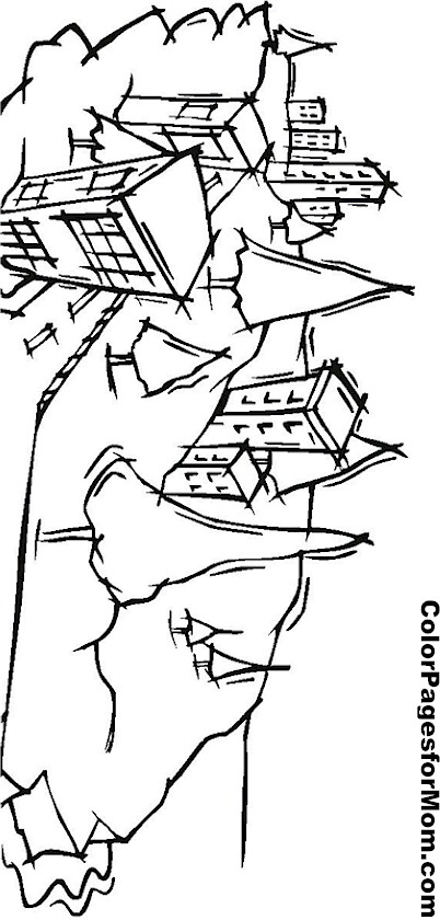 city building coloring page 7