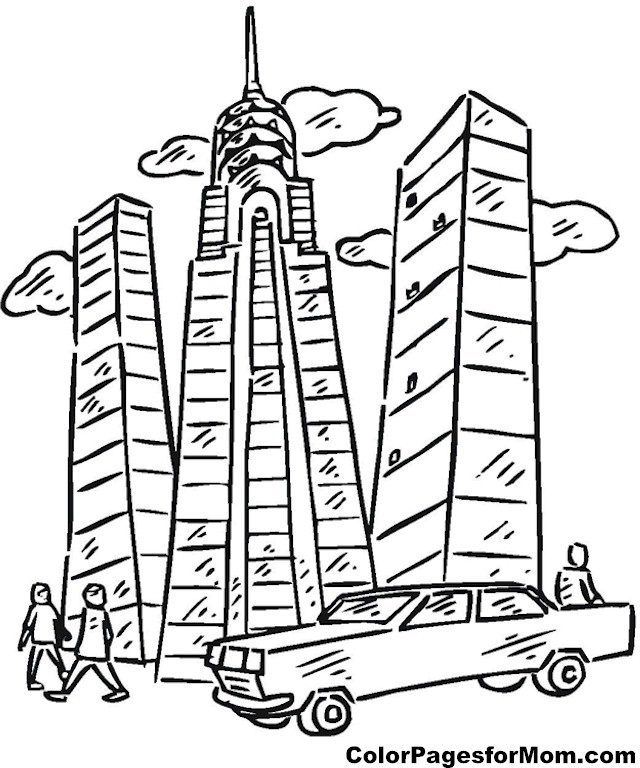 Free City Buildings Coloring Pages Building Coloring Pages