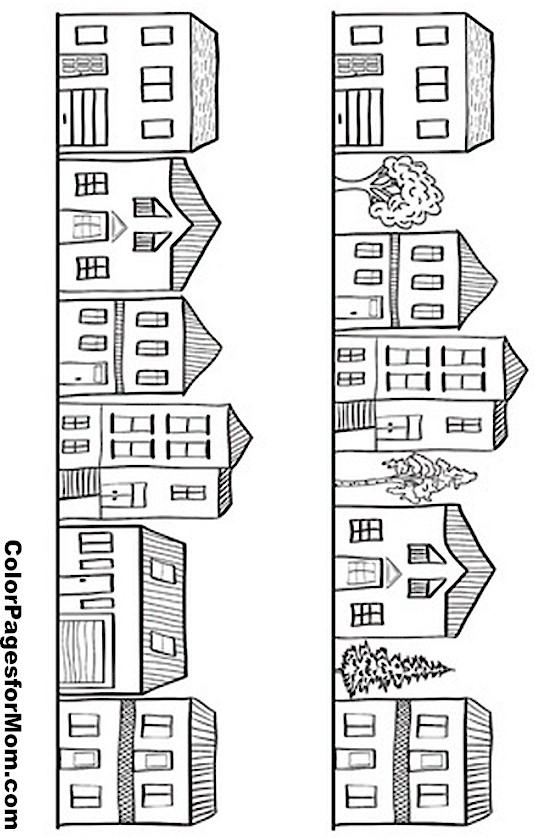 House Drawing Color: House Coloring Page 11