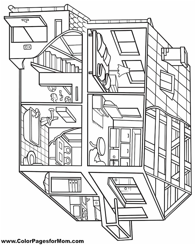 Free Coloring Pages Of Adult Houses