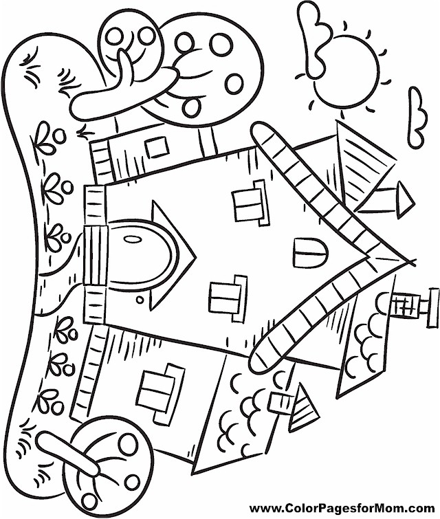 House coloring page 23 for Open house coloring pages
