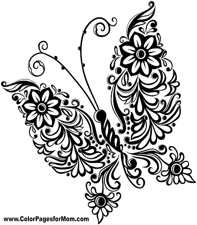 Gallery For gt Free Butterfly Mandala Coloring Pages