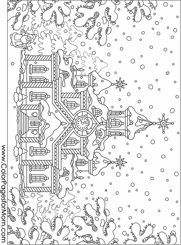 Christmas Coloring Page for Adults Christmas Wonderland