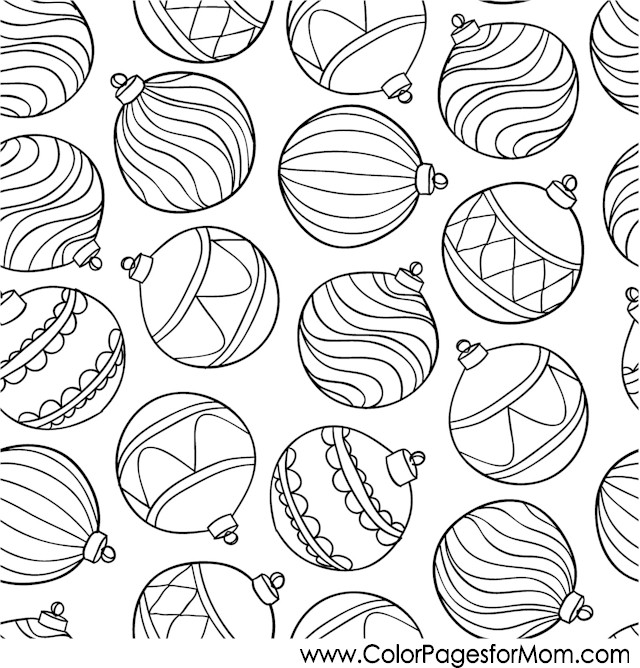Christmas Coloring Pages Christmas Ornaments Coloring Pages Decorations