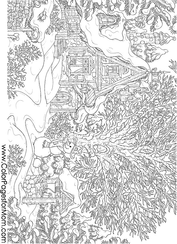 Christmas Coloring Pages Christmas Wonderland