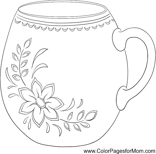 Coffee Printable Coloring Pages