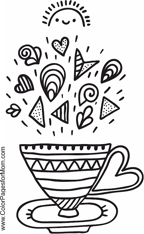 Advanced Coloring Pages Coffee coloring page 10