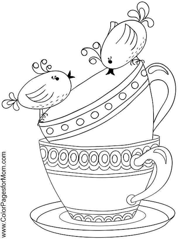 coffee coloring pages - photo#25