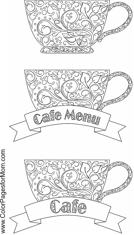 Coloring pages for adults coffee coloring page 13