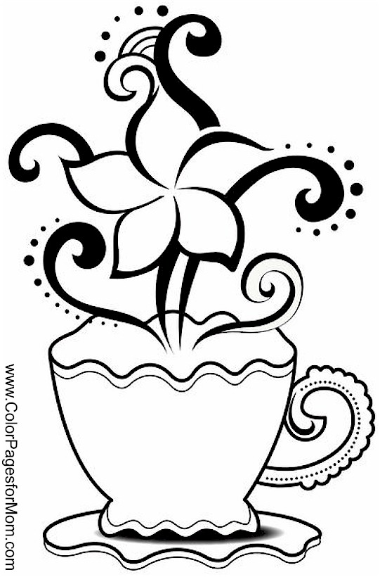 Coloring pages for adults coffee coloring page 20