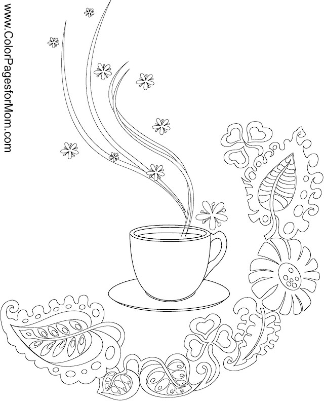 coffee coloring pages - photo#20