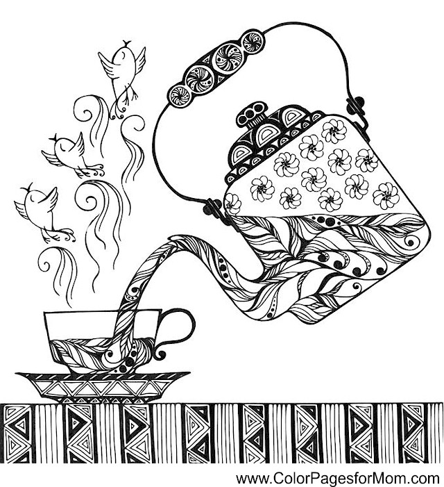 Coloring Pages For Adults Coffee Coloring Page 33