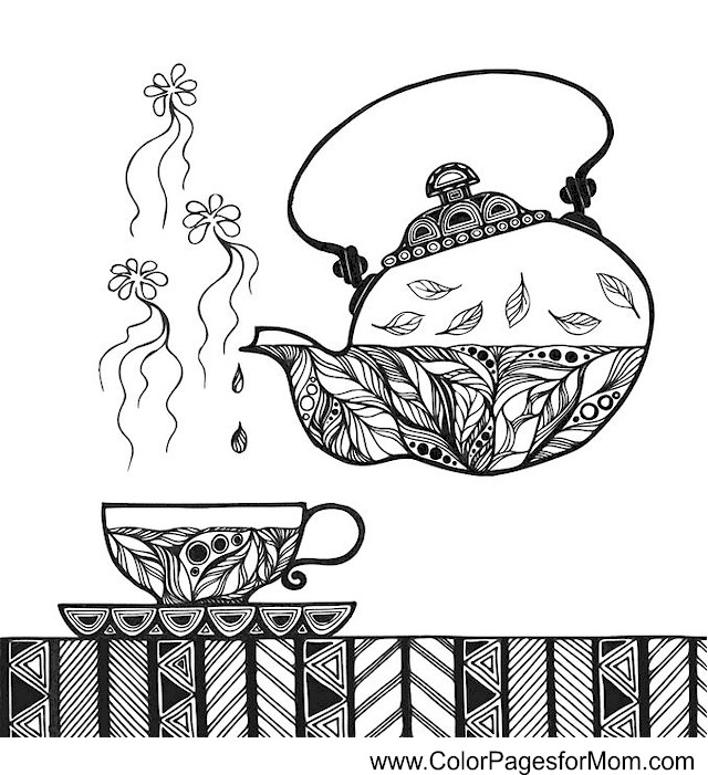coffee coloring pages - photo#32