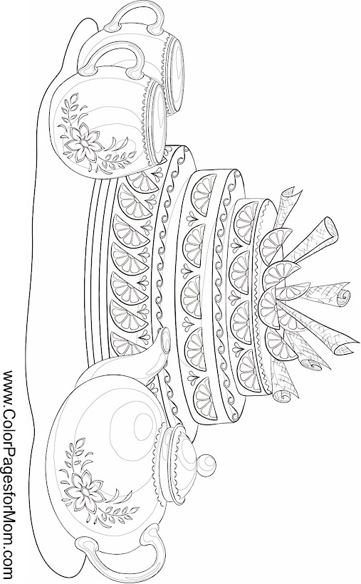 Coloring pages for adults coffee