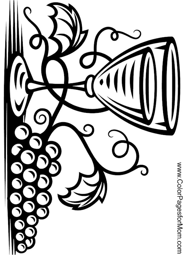 wine coloring book pages - photo#27