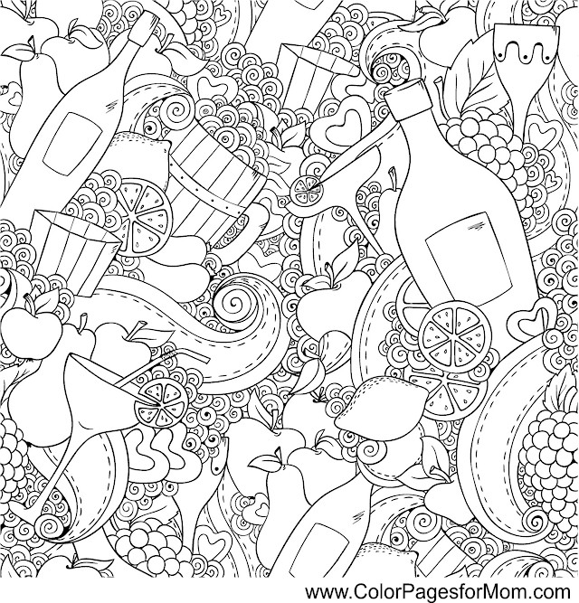 wine coloring book pages - photo#33