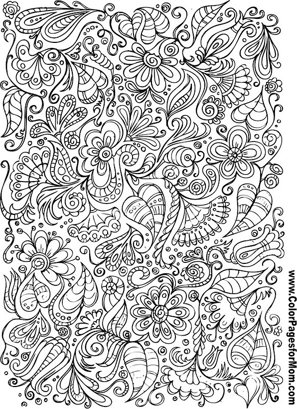 Advanced Art Coloring Pages : Printable doodle colouring sheets collage by jazzy