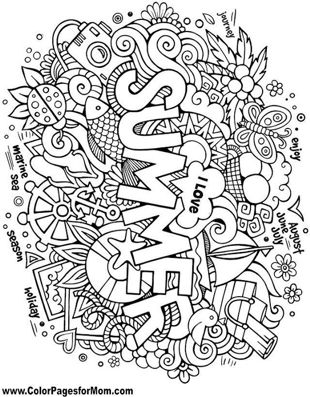 Doodles 108 Advanced Coloring Pages
