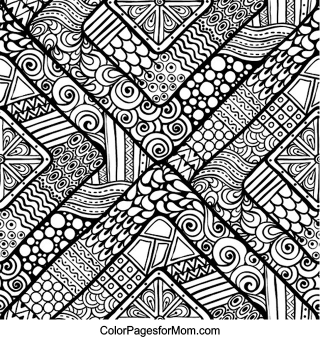 Coloring Pages For Advanced Colors : Doodles advanced coloring pages