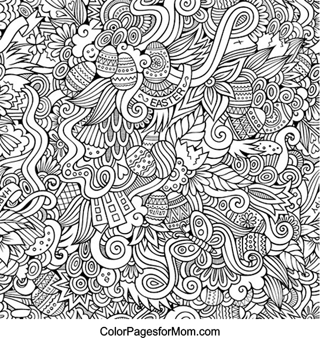 Doodles 16 Advanced Coloring Page