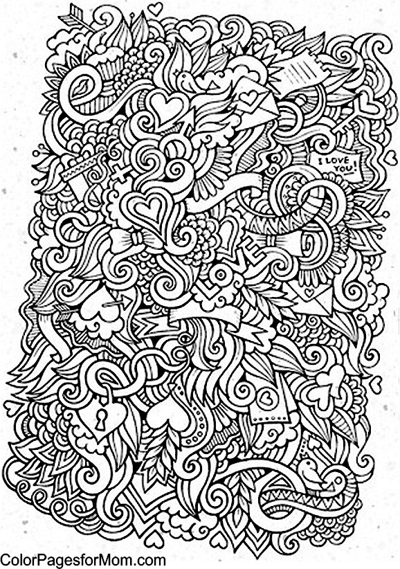 Doodles 22 Advanced Coloring Page
