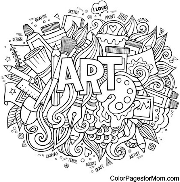Doodles 24 Advanced Coloring Page