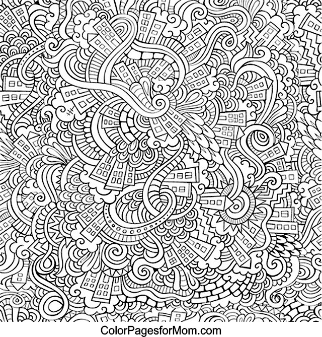 Advanced Christmas Coloring Pages To Print : Doodles advanced coloring page