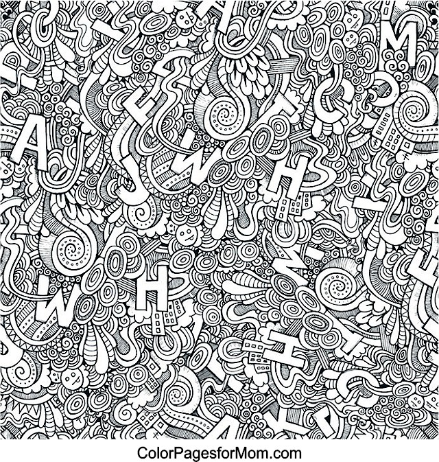 Alphabet Coloring Pages Advanced : Free coloring pages of doodle letters