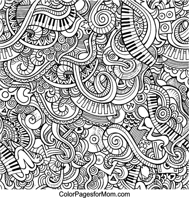 advanced music coloring pages - photo#4